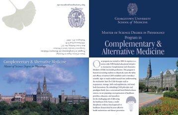 Complementary & Alternative Medicine - Georgetown University