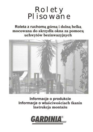 Rolety Plisowane - Gardinia