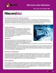 Nieuwsbrief dienstverlening BiSC september 2012