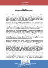 Analisis Media Juli 2013 - Kalyanamitra
