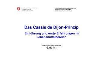 Das Cassis de Dijon-Prinzip - Nutrinet