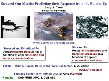 Stressed-Out Metals: Predicting their Response from the Bottom Up
