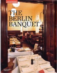 Few places offer such exciting encounters between ... - berlinagenten