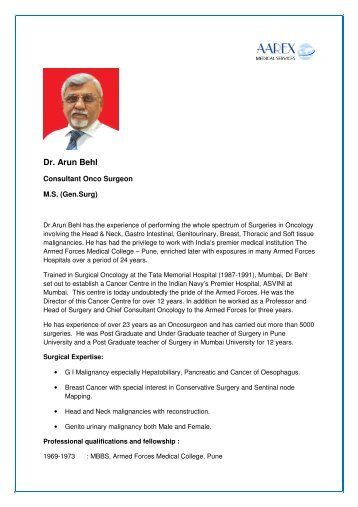 Dr. Arun Behl - Surgery in India
