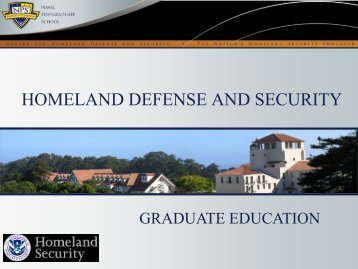 HOMELAND DEFENSE AND SECURITY - EMForum.org