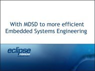 With MDSD to more efficient Embedded Systems Engineering
