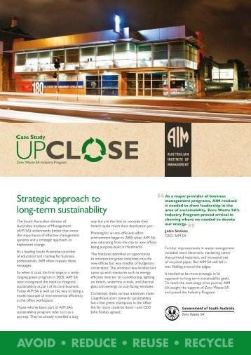 Australian Institute of Management - Zero Waste SA - SA.Gov.au