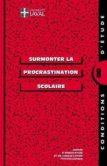 PROCRASTINATION SURMONTER LA SCOLAIRE SCOLAIRE