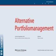 Portfoliomanagement alternative 2012