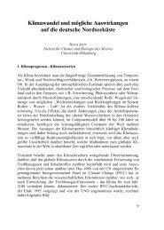 Klimawandel und mögliche Auswirkungen auf die deutsche ...