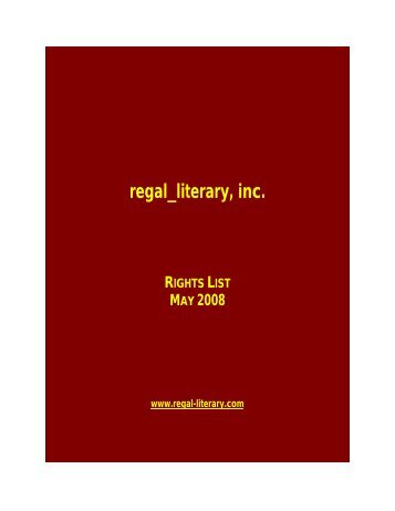 TABLE OF CONTENTS - Regal Literary