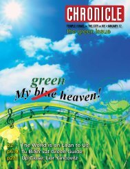 the green issue - Temple Israel of the City of New York