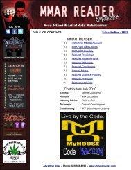MMAR READER Contributors July 2010 - The MMAR Reader