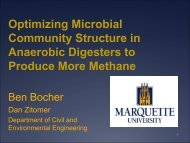 Optimizing Microbial Community Structure in Anaerobic Digesters to ...