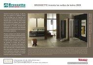 BROSSETTE invente les salles de bains 2009 - Agence Nicole ...