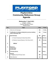 Playford Alive Community Reference Group Agenda - City of Playford