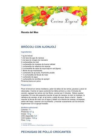brócoli con ajonjolí - Centro Médico Docente La Trinidad