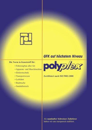 Die Norm in Kunststoff für: • Fahrzeugbau aller Art ... - Polyplex AG