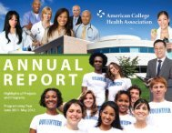 2011-12 ACHA Annual Report - American College Health Association