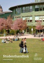 Studenthandbok - BIG - Stockholms universitet