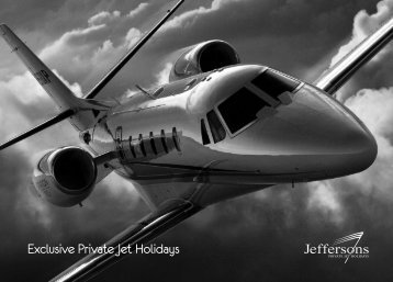 Exclusive Private Jet Holidays - Jeffersons Private Jet Holidays