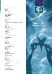 Interreg IIIB Nordseeprogramm - Interreg IVB North Sea Region ...
