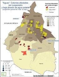Colonias afectadas por suspensión y baja presión de agua potable