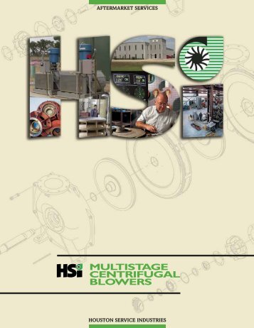 MULTISTAGE CENTRIFUGAL BLOWERS - HSI Blowers