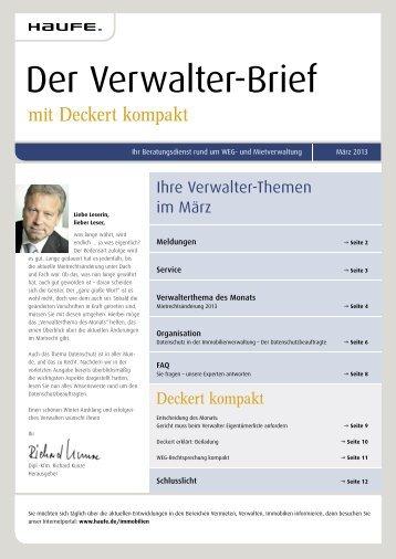 Der Verwalter-Brief - Haufe.de
