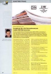 Europäische Norm für Printmedienanalysen ergänzt ZAW - TNS Emnid