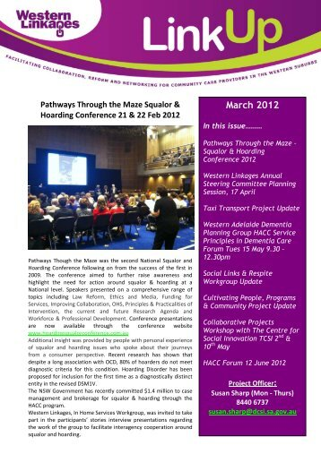 March 2012 Newsletter - Western Linkages