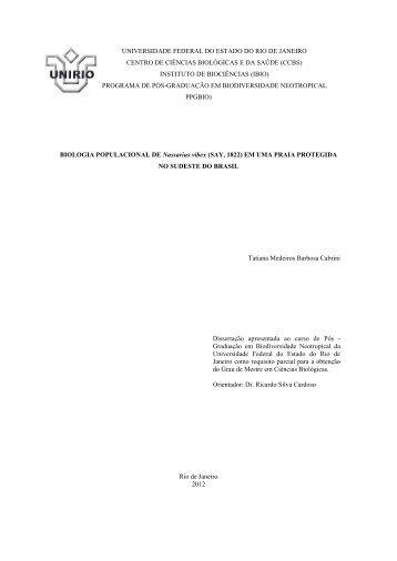 Tatiana Medeiros Barbosa Cabrini - Unirio