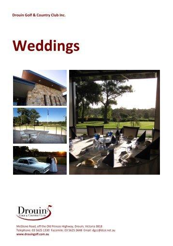 Menus Option 1 - Drouin Golf & Country Club