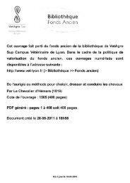 Bibliothèque - Centre de documentation équestre