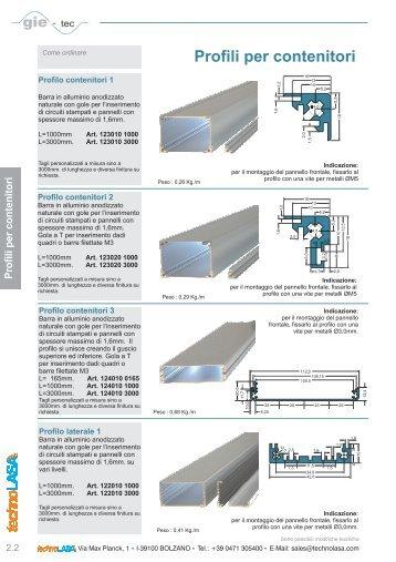 Profili per contenitori - Technolasa