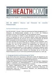 DIN EN 80001-1: Chancen und Potenziale für ... - E-Health-Com