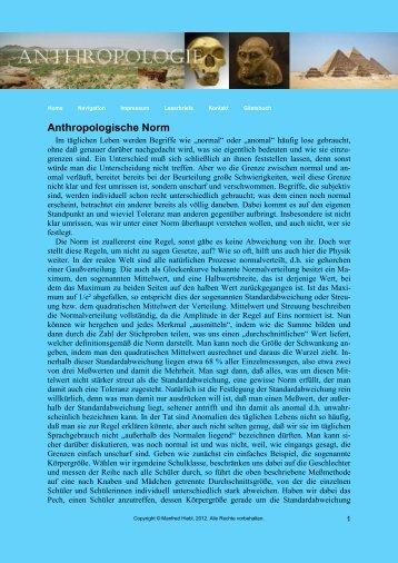 Anthropologische Norm - von Manfred Hiebl