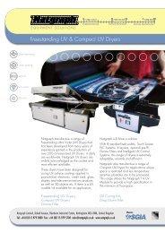 Natgraph Freestanding UV & Compact UV Dryers