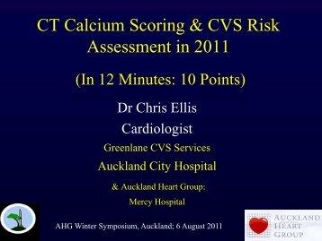 CT Calcium Scoring and CVS risk assessment - Auckland Heart Group