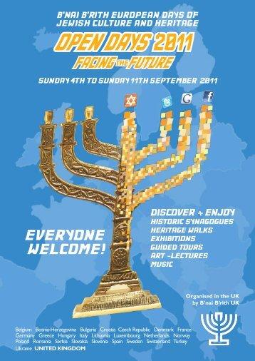 open days 2011 - Jewish Heritage