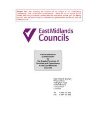 Pre-Qualification Questionnaire Template for East Midlands ...