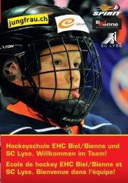 Flyer Hockeyschule - EHC Biel-Bienne Spirit