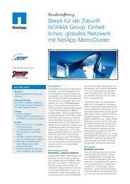 Bereit für die Zukunft NORMA Group: Einheit- liches ... - NetApp