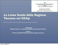 Le Linee Guida della Regione Toscana sui DSAp