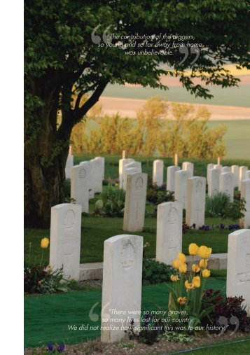 """""""There were so many graves, so many lives lost for our country. We ..."""