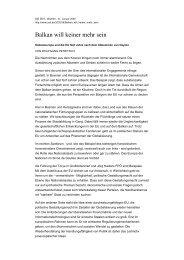 Balkan will keiner mehr sein - Wolfgang Petritsch