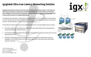 igxglobal Ultra-Low-Latency Networking Solution