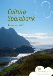 Årsrapport 2010 (pdf) - Cultura Bank