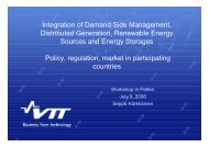 Policy, regulation, market in participating countries - IEA Demand ...