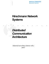 Hirschmann Network Systems Distributed Communication Architecture
